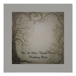 Wedding Tree Guest Book print Perfect Poster