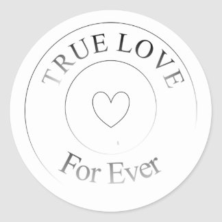 Wedding True Love For Ever Faux Stamp Mark Classic Round Sticker