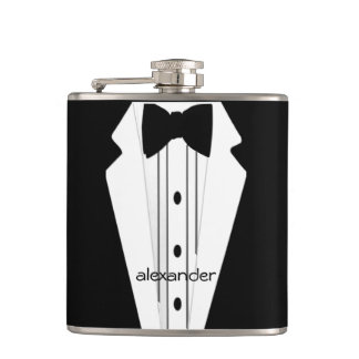 Wedding Tuxedo Grooms Hip Flask