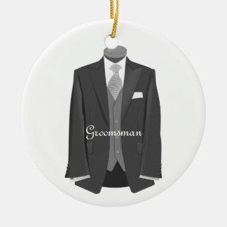 Wedding Tuxedo Groomsman Ornament