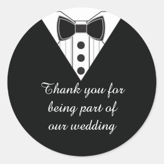 Wedding Tuxedo Thank You Favor Stickers