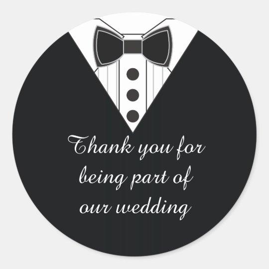 Wedding Tuxedo Thank You Favour Stickers