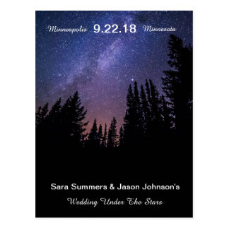 Wedding Under the Stars - Save The Date Postcard