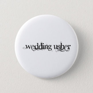 Wedding Usher 2 Inch Round Button
