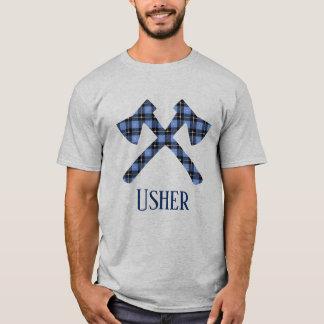 Wedding Usher double cross ax plaid T-Shirt