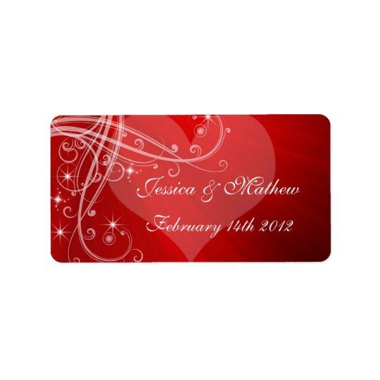 Wedding,Valentines Day  Wine / Water Labels