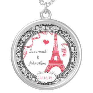 Wedding Vintage Eiffel Tower Anniversary Necklace
