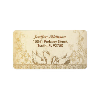 wedding vintage elegant address label