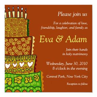 Wedding Vintage Square Invitation