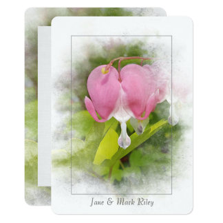 Wedding Vow Renewal-bleeding heart flower Card