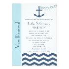 Wedding Vow Renewal Nautical Blue Card