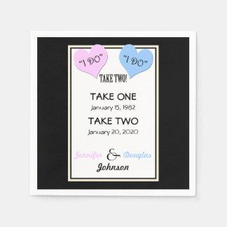Wedding Vow Renewal Paper Napkins