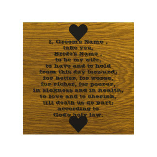 Wedding Vows Words Wood Prints