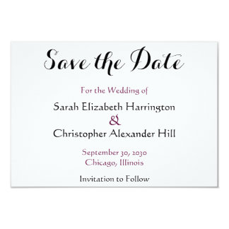 Wedding Watercolor Purple Jasmine Save the Date Card