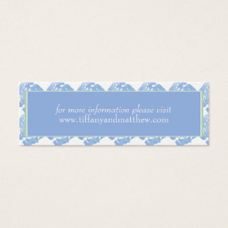 Wedding Website Card | Blue Watercolor Floral