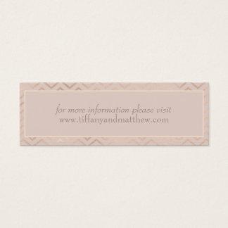 Wedding Website Card | Champagne Chevron Pattern