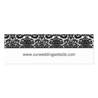 Wedding website card - damask accent business cards