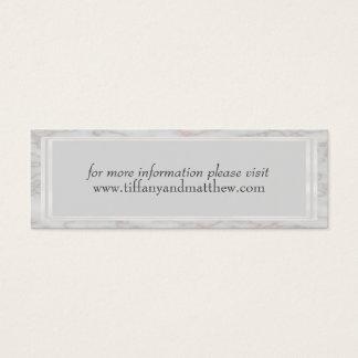 Wedding Website Card | Gray Rose Gold Marble