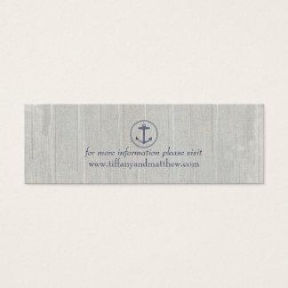 Wedding Website Card | Nautical Anchor
