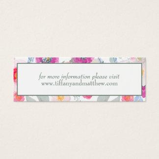 Wedding Website Card | Pink Watercolor Bouquet