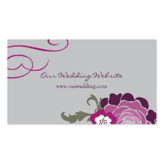 Wedding Website Card // Plum Bouquet Collection Pack Of Standard Business Cards