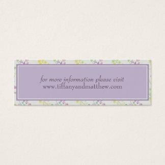 Wedding Website Card | Purple Yellow Floral