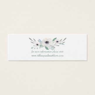 Wedding Website Card | Watercolor White Floral