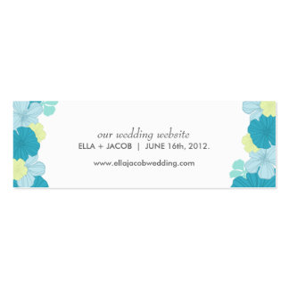 Wedding Website Cards // Lush Tropics // Blue Pack Of Skinny Business Cards