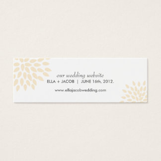 Wedding Website Cards // Posh Petals // Vanilla