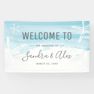Wedding Welcome Beach Banner