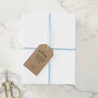 Wedding Welcome Gift Tag - Kraft