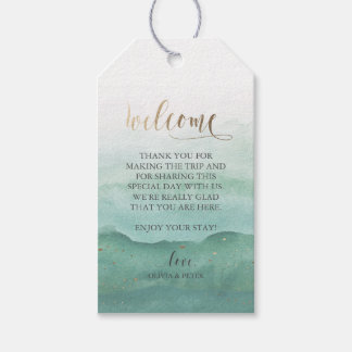 Wedding Welcome Gift Tag - Watercolor Pack Of Gift Tags