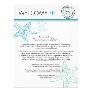 Wedding Welcome Letter for Florida Letterhead