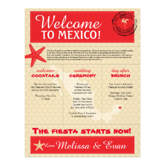 Wedding Welcome Letter for Mexico Letterhead