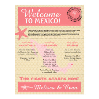 Wedding Gift Bag Ideas Mexico : Wedding Welcome Letter Letterhead, Custom Wedding Welcome Letter ...
