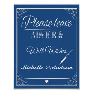 Wedding Well Wishes Sign, Wedding Reception Sign, Poster