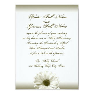 Wedding White Antique Daisy Card