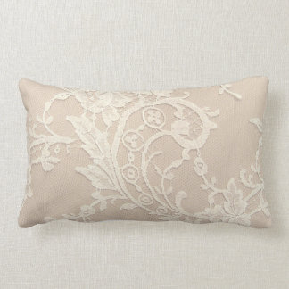 Wedding White Lace Lumbar Pillow