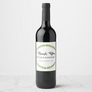 Wedding Wine Bottle Favour Thank You Label