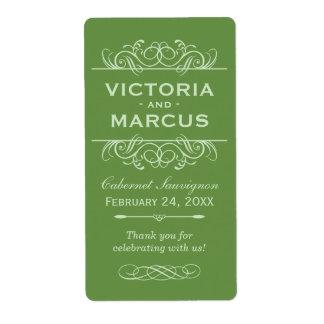 Wedding Wine Bottle Monogram Favour Labels