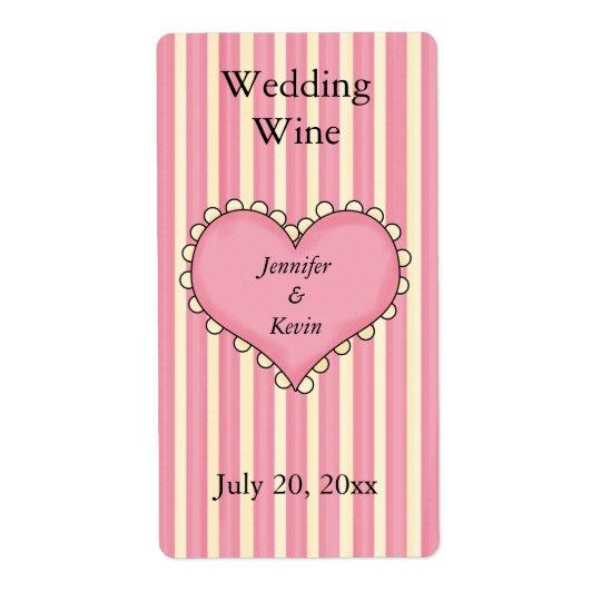 Wedding Wine Label