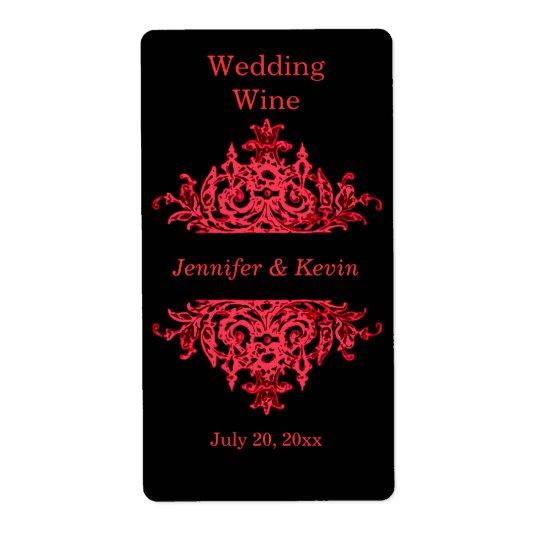 Wedding Wine Label Shipping Label