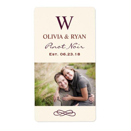 Wedding Wine | Personalized Photo Favour Stickers
