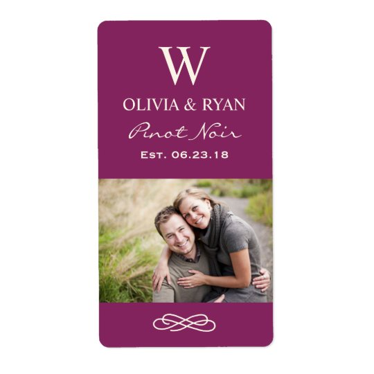 Wedding Wine | Personalized Photo Favour Stickers Shipping Label