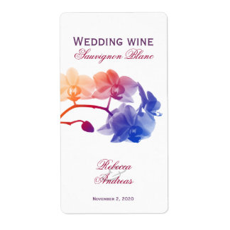 Wedding wine personalized youthful label shipping label