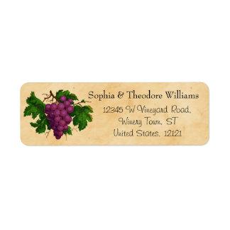 Wedding Wine | Tasting Party Vintage Purple Grapes