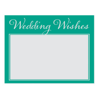 Wedding Wishes Advice For Bride and Groom Postcard