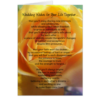 Wedding Wishes for Your Life Together... Card