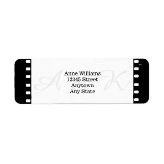 Wedding With A Movie Film Theme Return Address Label