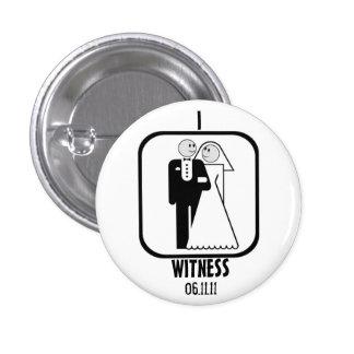 WEDDING WITNESS 1 INCH ROUND BUTTON